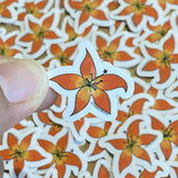 Mini Prairie Lilies Waterproof Stickers - HandmadeSask