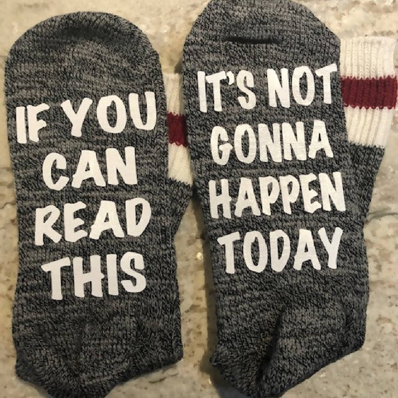 Not Today Socks - HandmadeSask