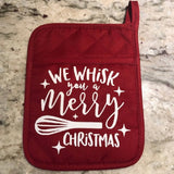 We Wisk You a Merry Christmas Pot Holders - HandmadeSask