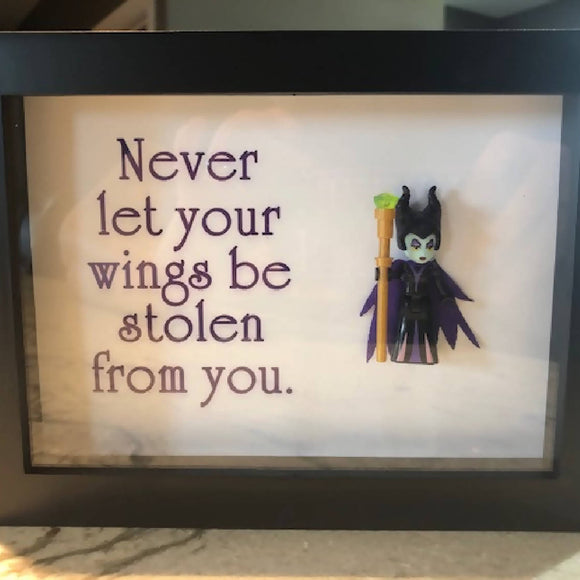 Never Let Your Wings be Stolen - Shadow Box - HandmadeSask