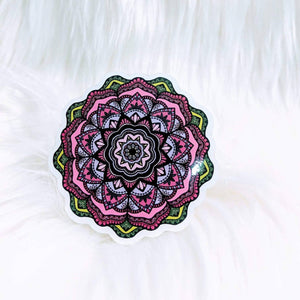 Pink Flower Waterproof Stickers - HandmadeSask