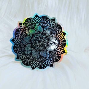 Holographic Pink Flower - HandmadeSask