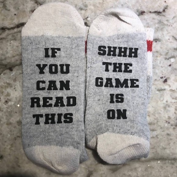 The Game is On Socks - HandmadeSask