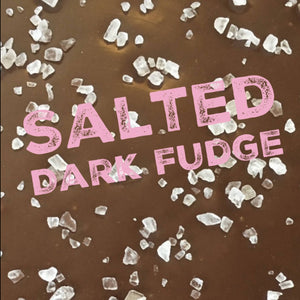 Sea Salt Dark Chocolate Fudge - HandmadeSask
