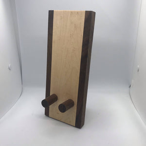 Bird's Eye Maple & Walnut Phone Stand - HandmadeSask