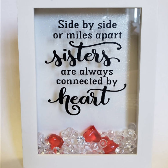 Side by Side Sisters Shadow Box - HandmadeSask