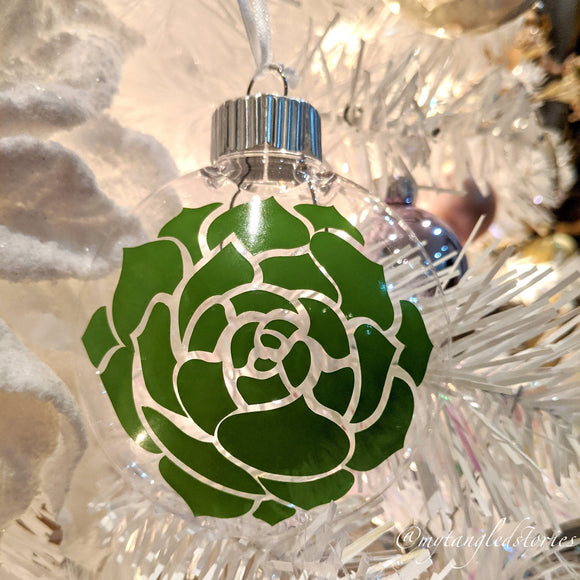 Chroma Succulent Clear Ornament - HandmadeSask