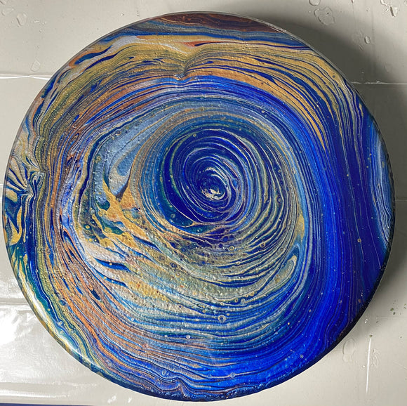 Painted Stepping stone - HandmadeSask