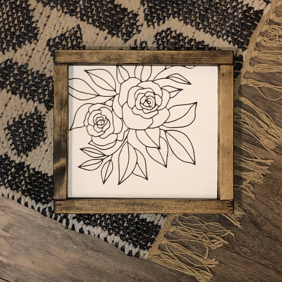 Rose outline - HandmadeSask