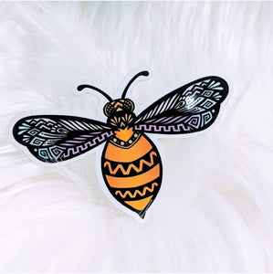 Bee Vibrant Waterproof Stickers - HandmadeSask
