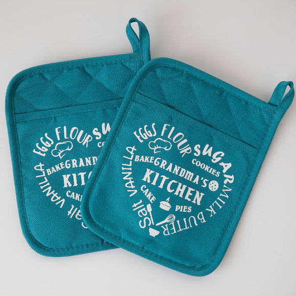 Grandma's Kitchen Pot Holders - HandmadeSask