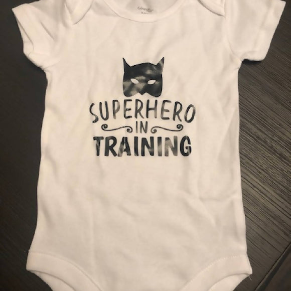 Super Hero in Training Baby Onesies - HandmadeSask