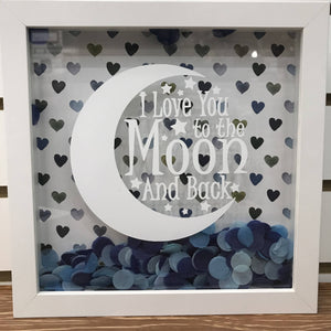 I LOVE YOU TO THE MOON blue - HandmadeSask