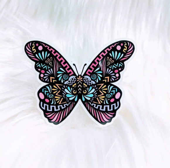 Butterfly (Vibrant) Waterproof Stickers - HandmadeSask