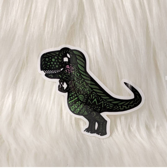 Dino: T-Rex Waterproof Stickers - HandmadeSask