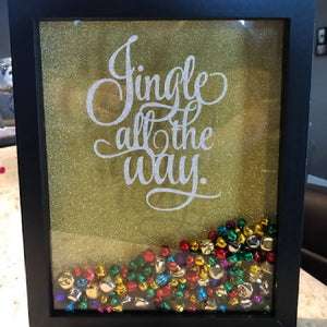 Jingle All the Way Shadow Box - HandmadeSask