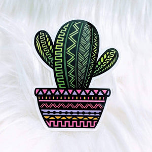 Cactus Waterproof Stickers - HandmadeSask