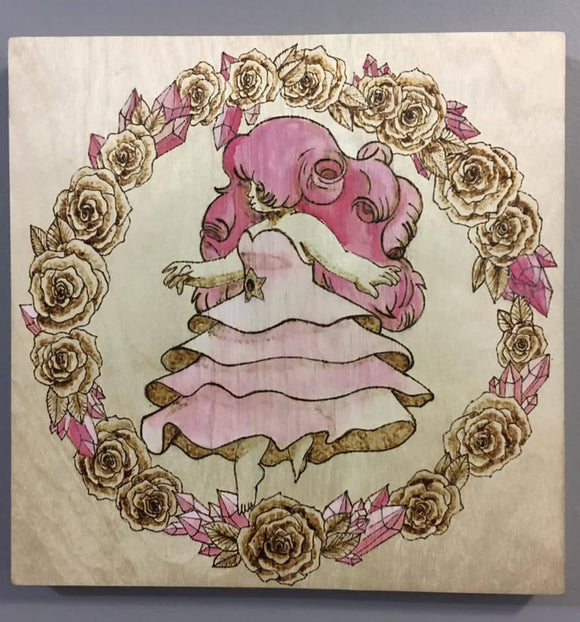 wall art - Rose Quartz - HandmadeSask