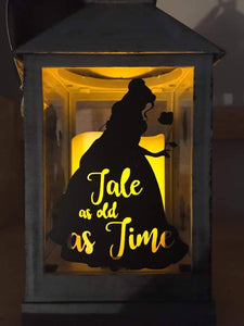 Beauty and The Beast Lantern - HandmadeSask