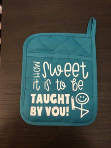 Taught by You Pot Holders - HandmadeSask