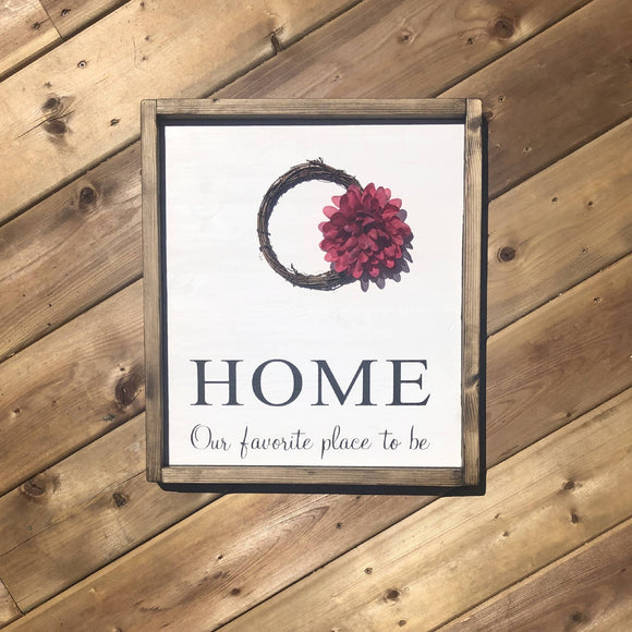 Home with floral accent - HandmadeSask