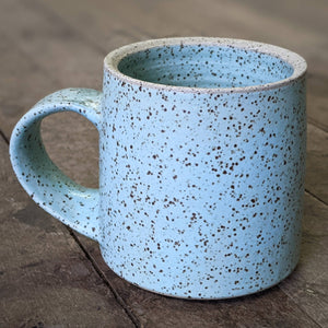 Mug - speckled clay blue - Diner Mug - 2021 - HandmadeSask