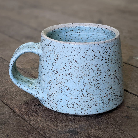 Mug - speckled clay blue - Low Rider - 2021 - HandmadeSask