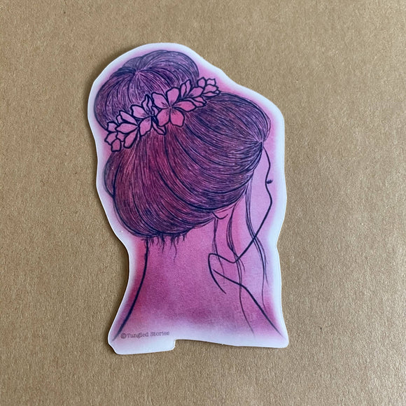 Bloom in Pink Waterproof Sticker - HandmadeSask