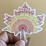 Canadian Maple Leaf Waterproof Sticker - HandmadeSask