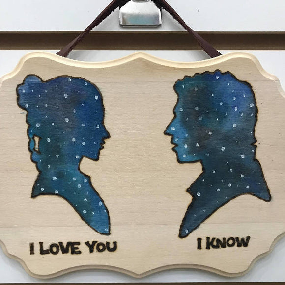 wall art - Han and Leia - HandmadeSask
