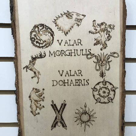 wall art - Game of Thrones Valar Morghulis - HandmadeSask