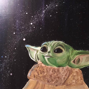 Painting - The Child (Baby Yoda) - HandmadeSask
