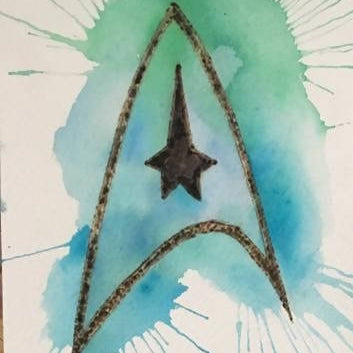 watercolour burn - Star Trek - HandmadeSask