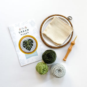 Begin to Punch Needle Kit | Monstera