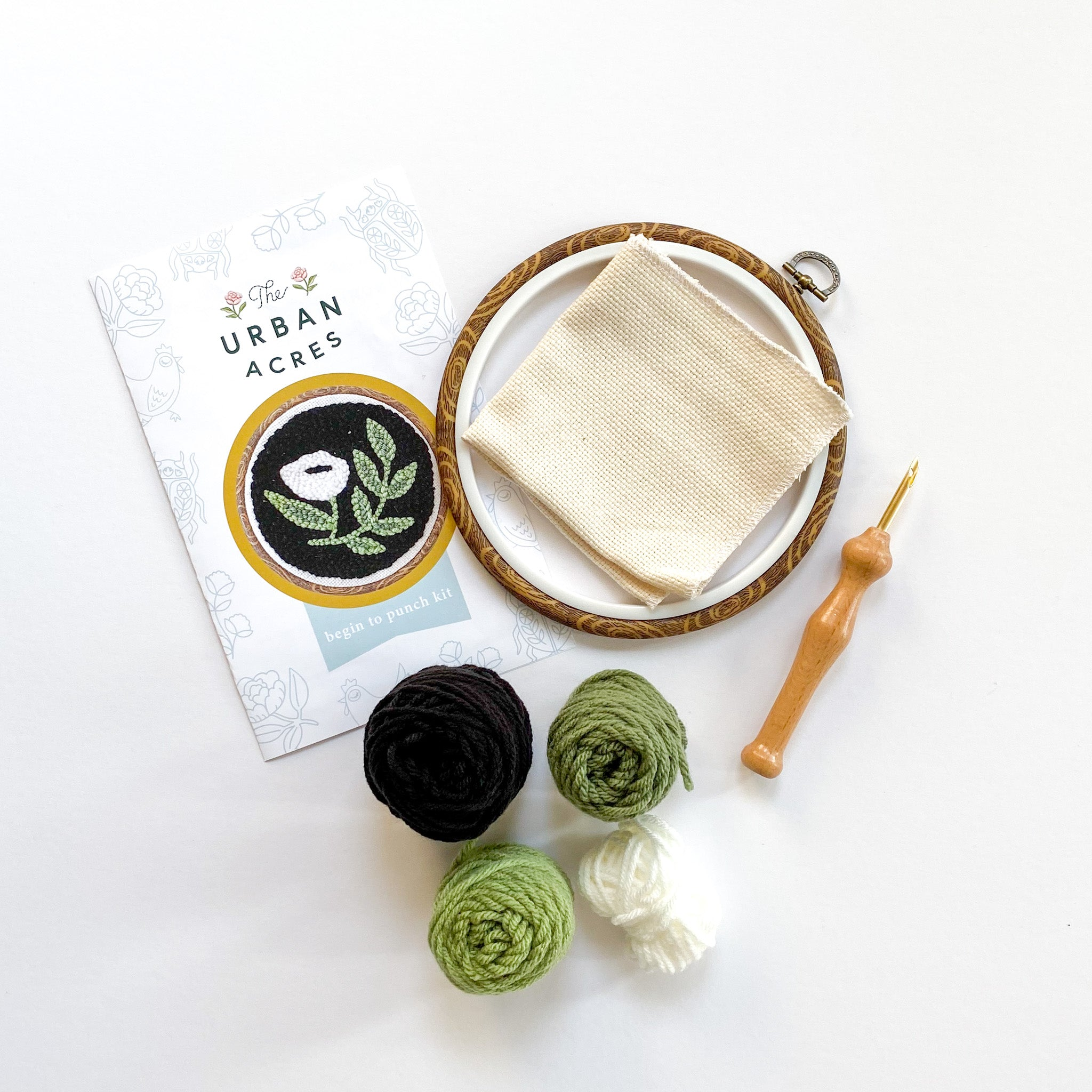Begin to Punch Needle Kit -- Modern Floral