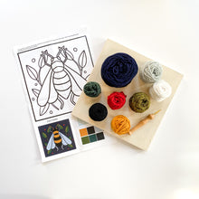 Load image into Gallery viewer, DIY Bumblebee Punch Needle Kit