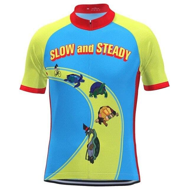 Slow & Steady Cycling Jersey - Granny Gear