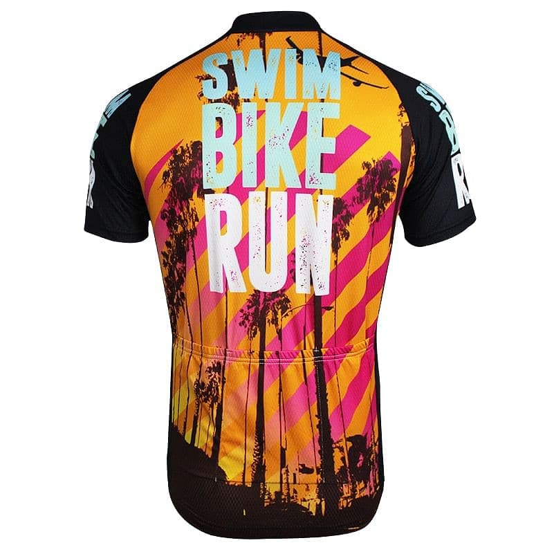 Swim Bike Run (Triathlon Inspired)  Cycling Jersey - Granny Gear