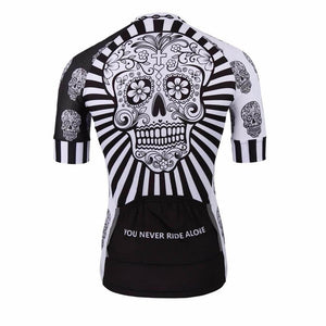 Day Of The Dead Skull Cycling Jersey - Granny Gear