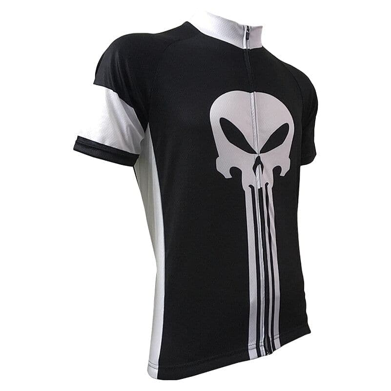 Punisher Theme Skull Cycling Jersey - Granny Gear