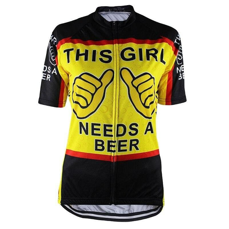 This Girl Needs A Beer Cycling Jersey - Granny Gear