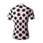Pale Pink With Polka Dots Cycling Jersey - Granny Gear