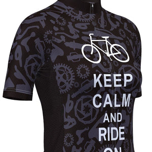 Keep Calm & Ride On Cycling Jersey - Granny Gear