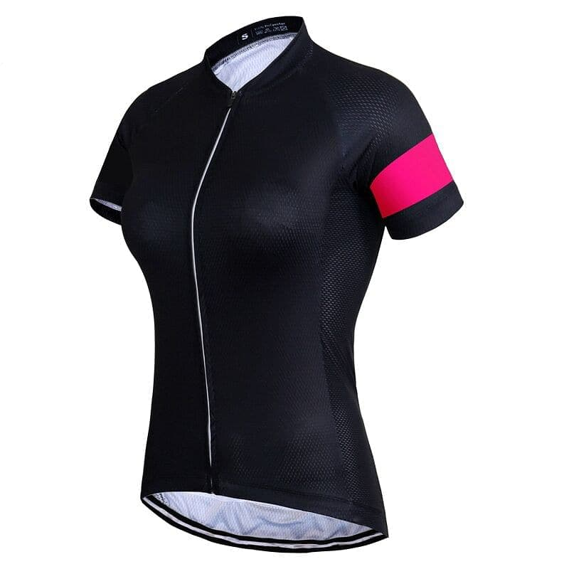 Pink Stripe Sleeve Cycling Jersey - Granny Gear