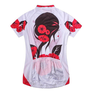 Stylish Flowers Cycling Jersey - Granny Gear