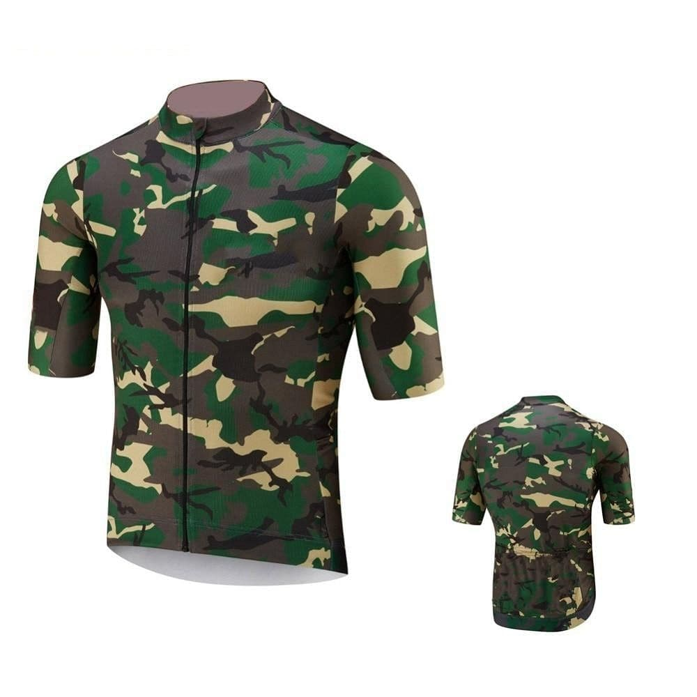 Green Camouflage Cycling Jersey - Granny Gear