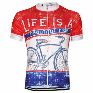 Life Is A Beautiful Ride Cycling Jersey - Granny Gear