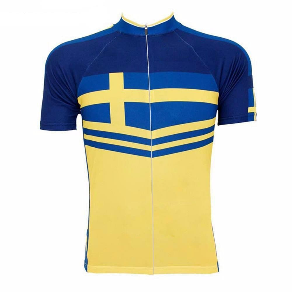 Retro Sweden Sverige Flag Cycling Jersey - Granny Gear