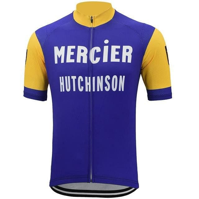 Retro Mercier Hutchinson Cycling Jersey - Blue - Granny Gear