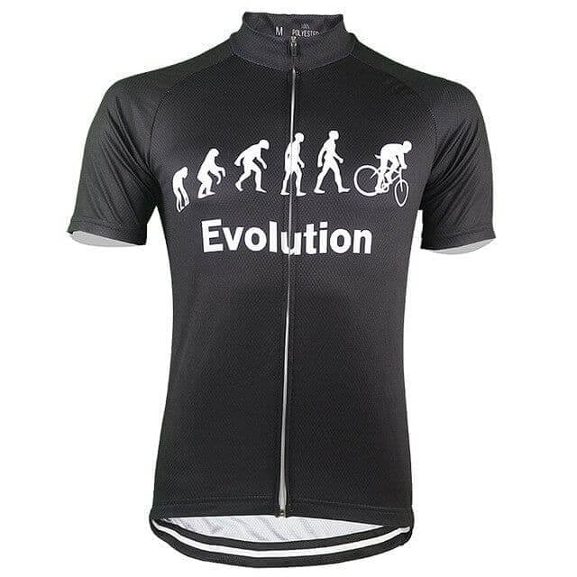 Evolution Of Man Cycling Jersey - Black - Granny Gear